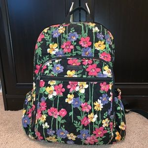 Vera Bradley Wildflower Garden Campus Backpack